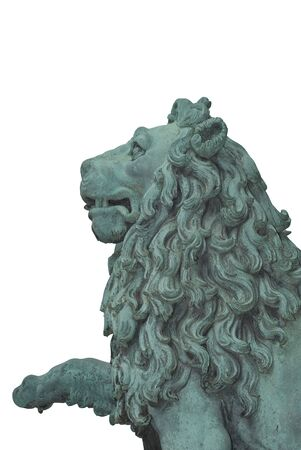 A Lion Statue Cutout as Design Element photo