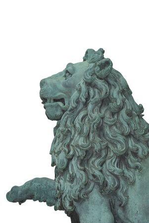 A Lion Statue Cutout as Design Element photo