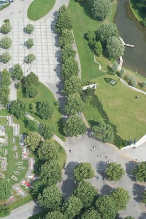 Aerial View with Pedestrian Walkway as Symbol of Urban Planning Reklamní fotografie - 7326873