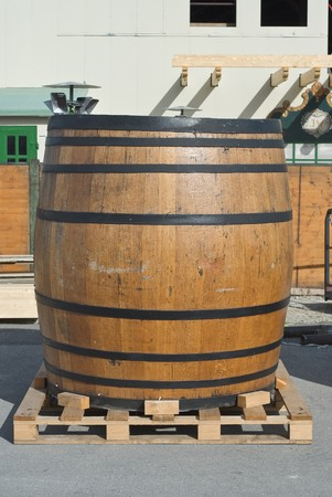 Traditional Beer Keg at the Oktoberfest in Munich photo