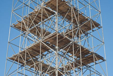 Scaffolding as Safety Equipment on a Construction Site photo