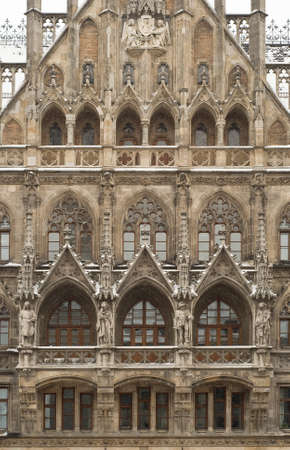 Munich City Hall as Example of Gothic Revival Architecture Stock Photo - 8877293