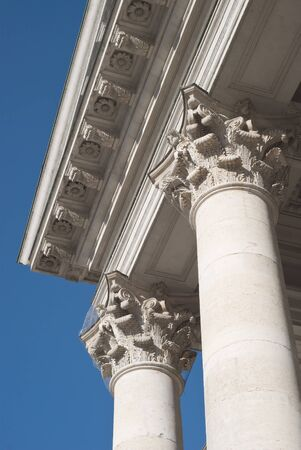Classical Greek Columns at the National Theater in Munich photo