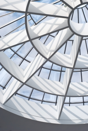 Skylight as an Indoor Architectural Design Element Stock Photo