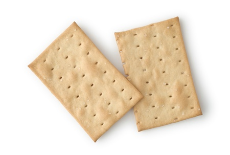 Two Crackers as Dieting Food for Breakfast or Snacks Stock Photo - 11814755