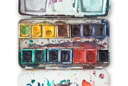 Watercolor Tray as Symbol of Inspiration Learning and Creativity