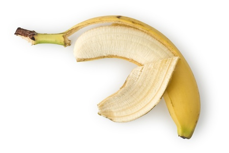 peeled banana: Peeled Banana as Healthy and Nutritious Dietary Supplement  Stock Photo