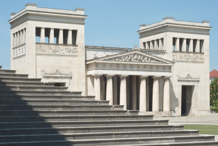 Classical Greek Architecture with Steps in the Italian style photo