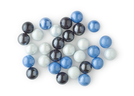 Arrangement of Marbles as Design Elements on White
