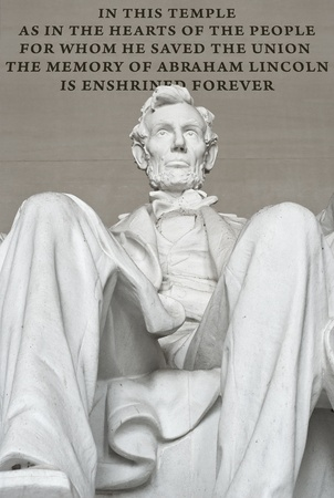 abraham lincoln: Abraham Lincoln Memorial in Washington DC
