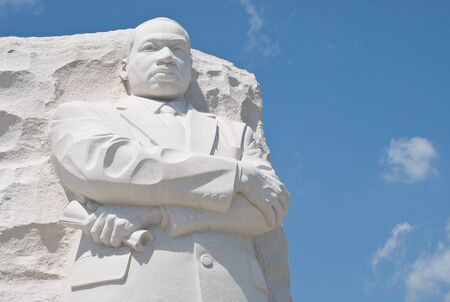 Martin Luther King Memorial in Washington DC with Copyspace