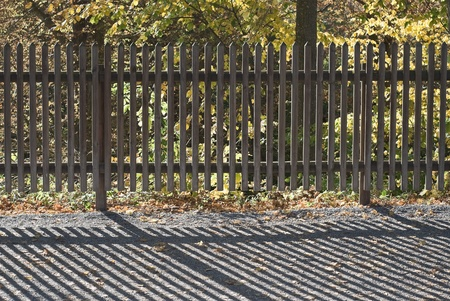 picket fence: Sun Pattern on a Wooden Picket Fence