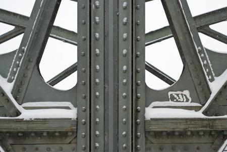 Metal Girders on a Bridge Stock Photo - 17470001