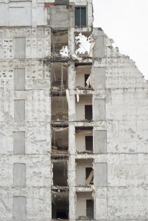 demolished: Building Demolition as Sign of Urban Renewal Stock Photo