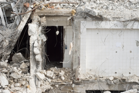 Building Demolition as Sign of Urban Renewal Stock Photo