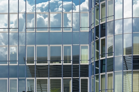 Contemporary Architecture with Sky and Cloud Reflection  Stock Photo - 23031780