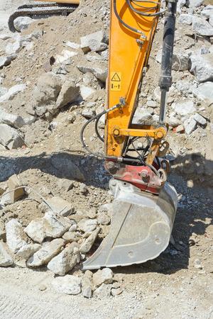 heavy machinery: Heavy Machinery as Construction Site Equipment Stock Photo