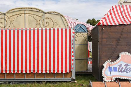 circo: Antes de que el espectáculo comienza Detrás de las escenas del circo