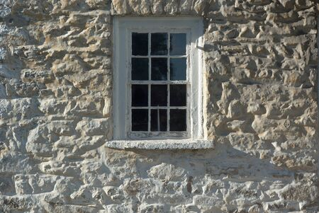revolutionary: Revolutionary War Barracks Detail with Window in Frederick Maryland