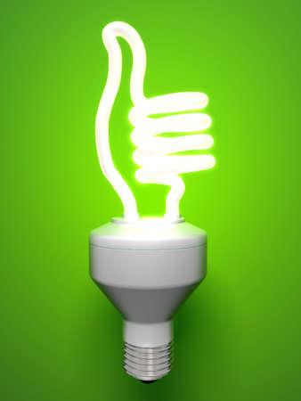bombilla: L�mpara de fluorescente compacto de pulgares arriba