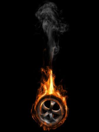 llantas: Neum�tico on Fire