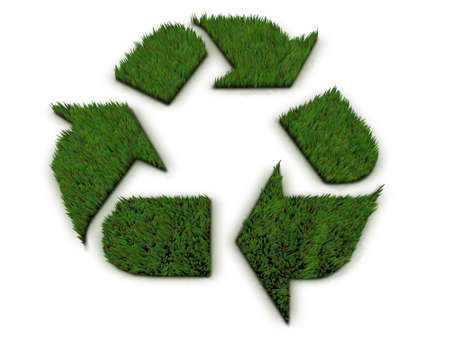 abstract symbolism: Grass Recycle Symbol