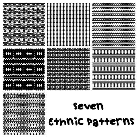 7 Ethnic patterns with an african feel.