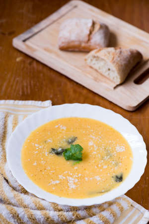 parmesan cheese: soup puree with spinach and parmesan cheese