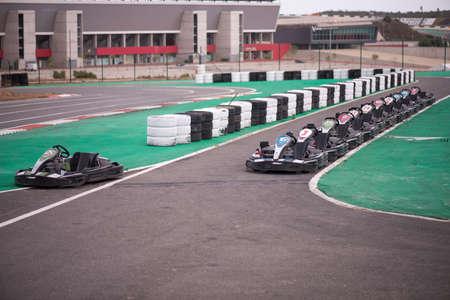 kart: Machine kart before the start, Portimao, Portugal Editorial