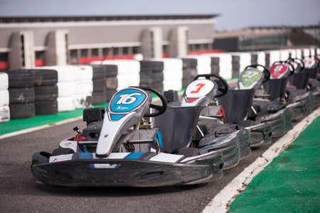 carting: Machine kart before the start, Portimao, Portugal Editorial