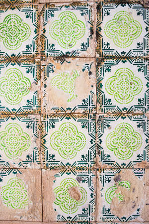 sequential: old ceramic tiles patterns from Portugal Stock Photo