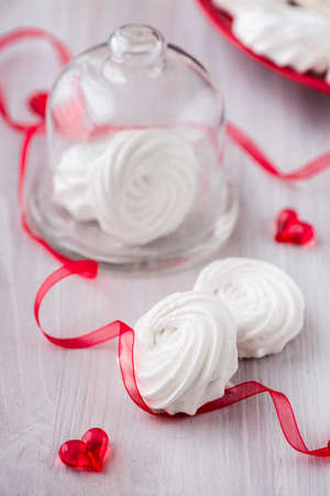 zephyr: White apple marshmallows, homemade zephyr for valentine day