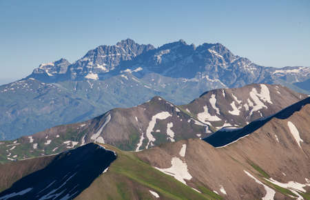 mountain ranges in Svanety, Georgia