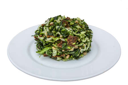 green salad on plate