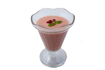 raw fruit smoothie served in glass