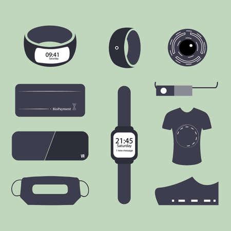 Wearable technology world Illustration