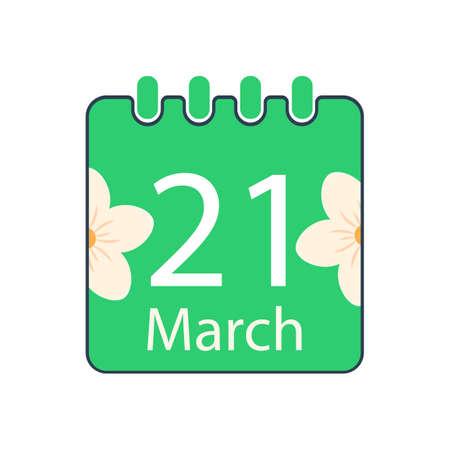 Happy Nowruz Day with calendar