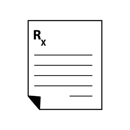 medical prescription isolated icon vector illustration design