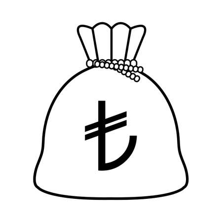 Turkish money bag isolated icon vector illustration design