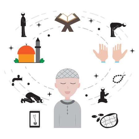 Islam and ramadan icon vector illustration design Illustration