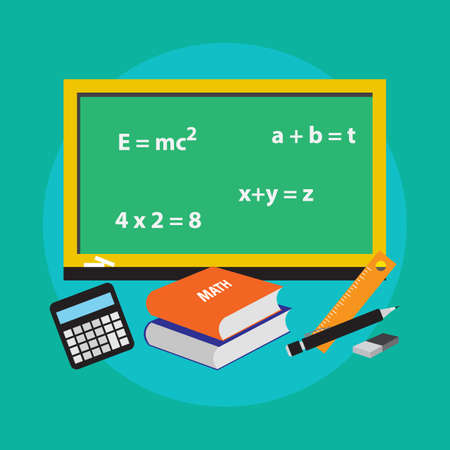 theorem: School concept math icon vector illustration design Illustration