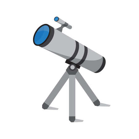 Telescope tool icon over white background, Stock vector illustration.