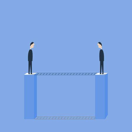 Business communication et le concept de relation illustration vectorielle. processus libres à pleines volets Banque d'images - 93347569