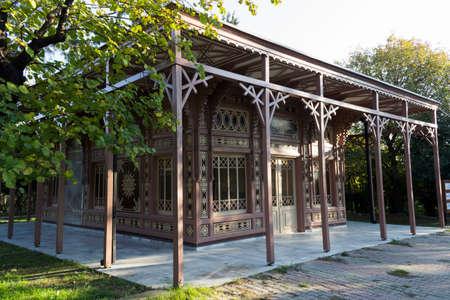 Abdulaziz Hunting Lodge, front left view - Istanbul - Turkey Editorial