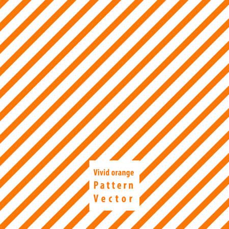 Vivid orange lines seamless pattern. Vector illustration.