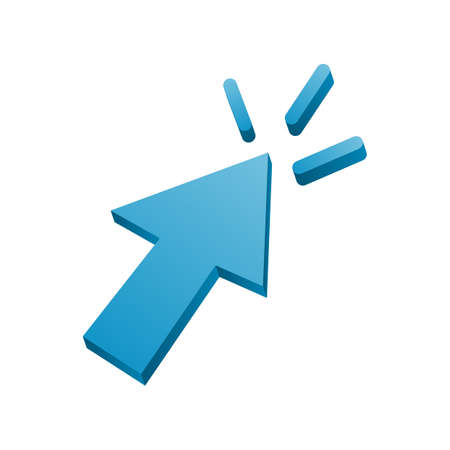 A 3d cursor icon vector illustration.