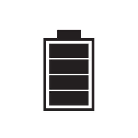 Full battery charge icon vector illustration. Free royalty images.