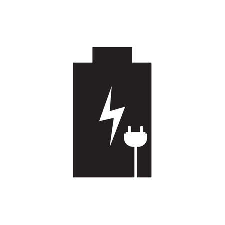 Rechargeable battery icon vector illustration. Free royalty images.