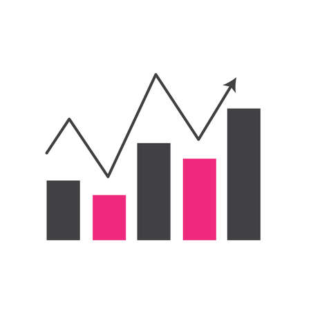 colored web traffic chart icon vector illustration Illustration