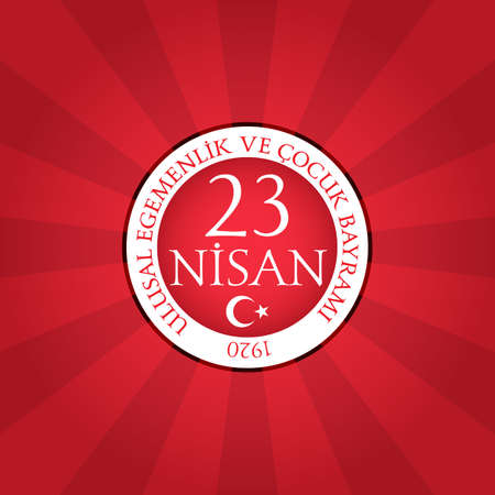 April 23 national sovereignty and childrens day in Turkey. Çizim